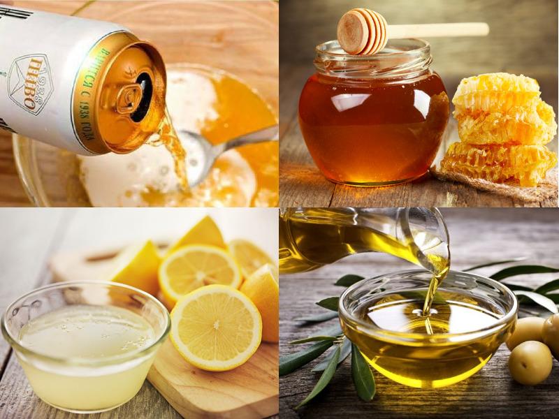 mat na bia mat ong, chanh và dau oliu giup lam dep da va duong toc hieu qua cho mai toc ong muot bong benh
